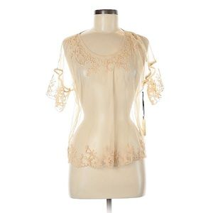 NWT Forever 21 Sheer Ivory w/Embroidery Detail